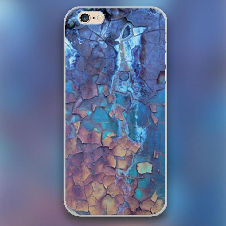 Водопад масло patinting дизайн прозрачный чехол чехол сотовый мобильный телефон чехол для iphone 4 4S 5 5c 5S 6 6 s 6 большой жёсткая раковина
