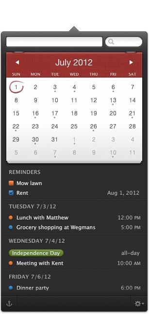 Fantastical. Great, focused little calendar app.