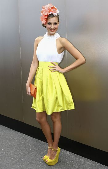 Bright colours - classy but so on-trend for the races!