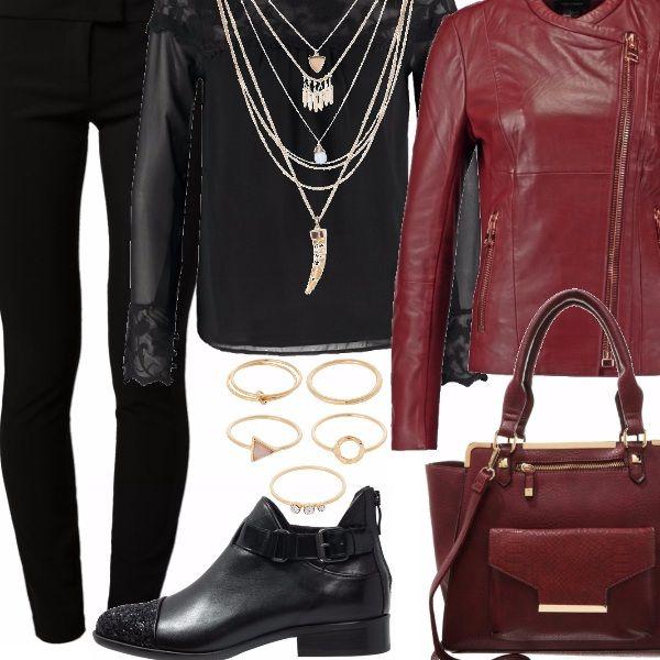 Outfit total black, il mio colore preferito. Look abbastanza versatile, adatto sia per il giorno che per la sera. Stile grintoso, fashion, e per una donna che vuole mostrarsi con cool e sofisticata.