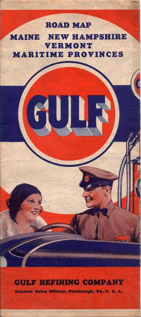 Gulf Oil road map of Maine, New Hampshire, Vermont...