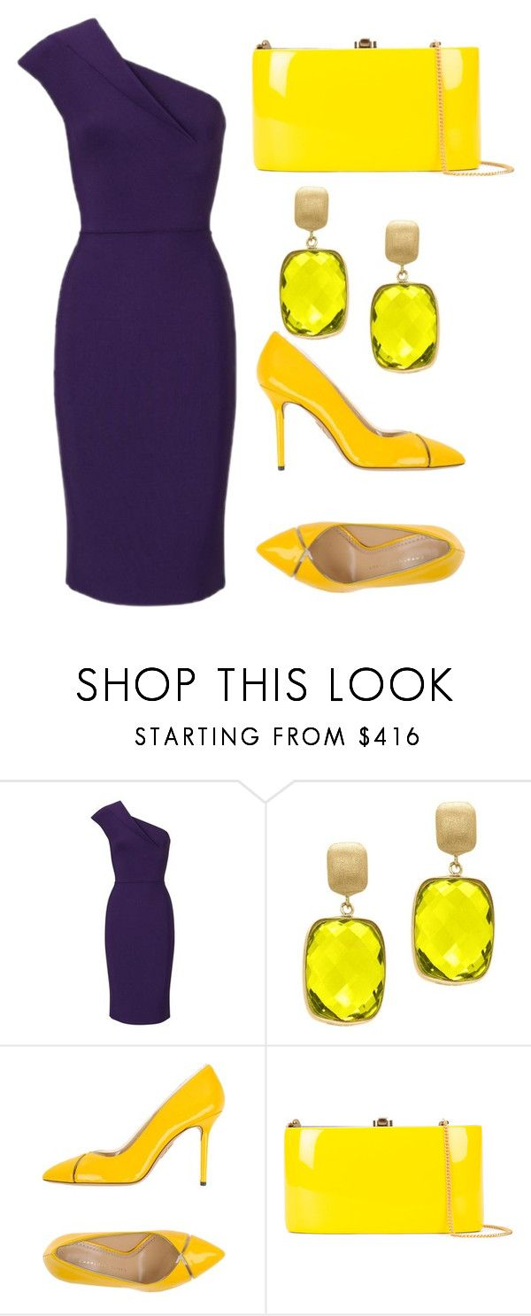 """""""duality fasion"""" by vanessa-moreno-1 on Polyvore featuring Roland Mouret, Effy Jewelry, Charlotte Olympia and Rocio"""