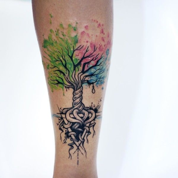 Watercolor tattoo: check Nature: check Celtic knot: check Cool: check THIS IS THE BEST!!!TattooChief.com