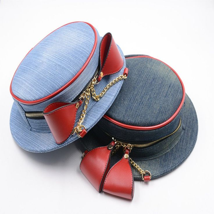 Hat Bow Clutch Denim Purse Cute Jean Handbag