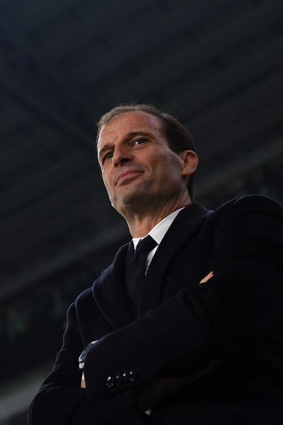Juventus FC head coach Massimiliano Allegri looks on during the Serie A match between Juventus FC and Atalanta BC at Juventus Stadium on December 3, 2016 in Turin, Italy.