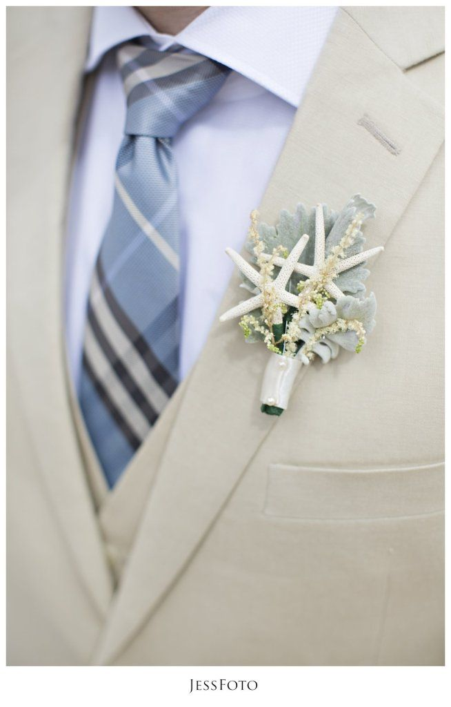 Starfish Boutonnieres | marriott frenchman's reef wedding photos by jessfoto