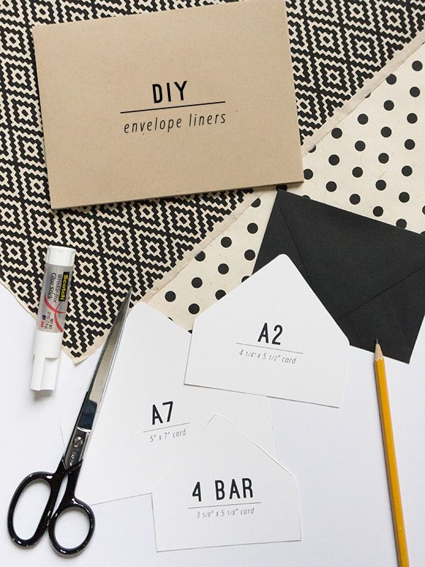 DIY envelope liners / evermore paper co.