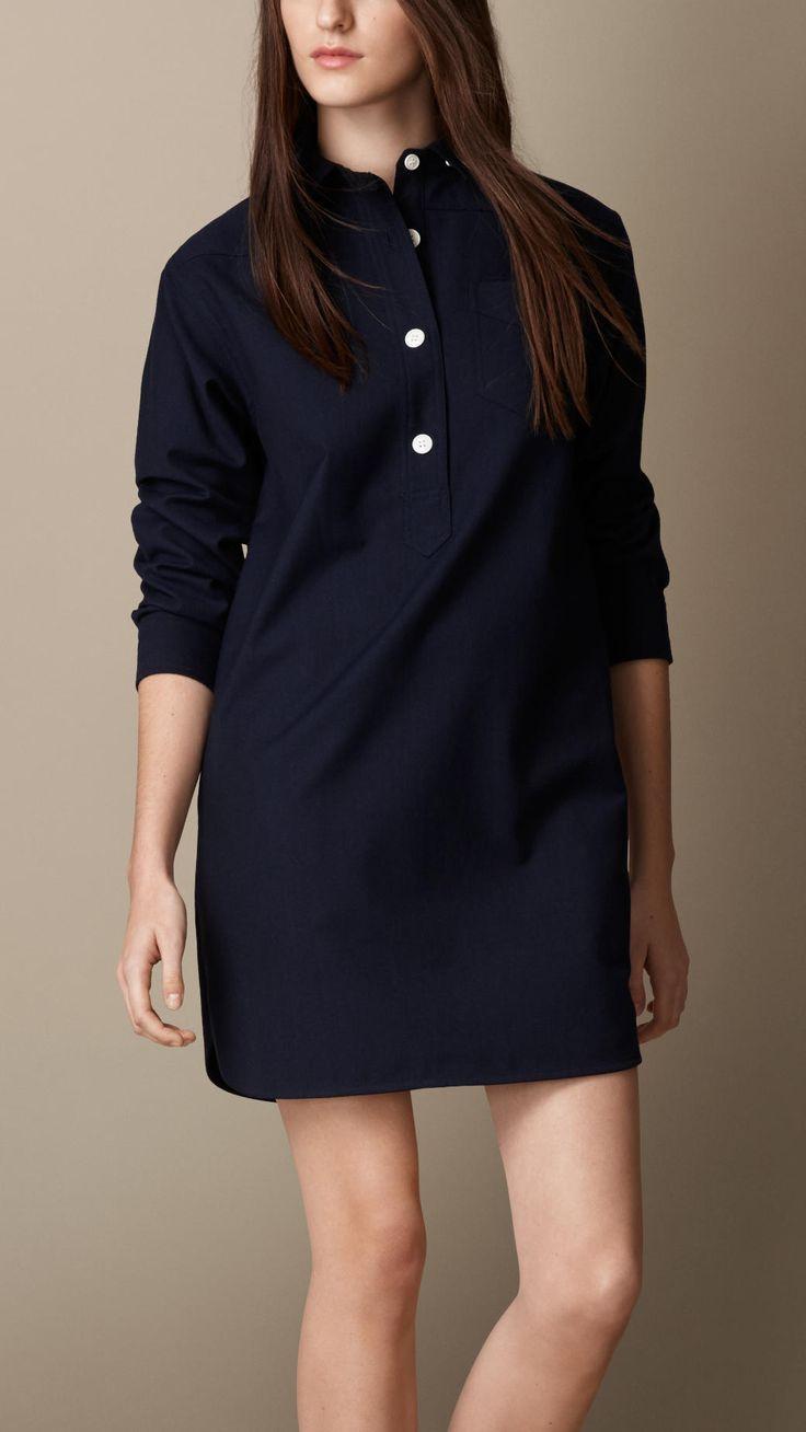 Robe chemise en flanelle de laine | Burberry