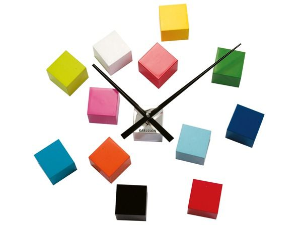 This vibrant multicoloured clock from @presenttimeBV  can be formed into different shapes to suit any home.