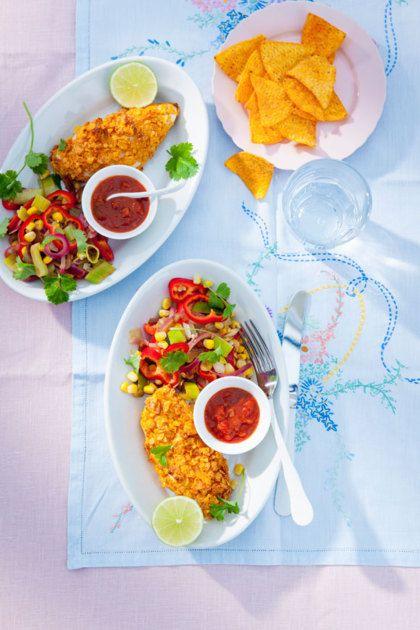 Recept voor krokante kip met Mexicaanse wokgroenten