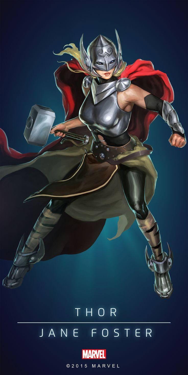 Thor_Goddess_Poster_04.png (PNG Image, 2000 × 3997 pixels)
