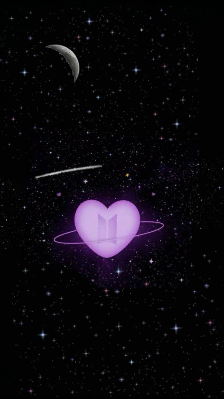 Bts Universe Ungu Galaksi Lukisan Galaksi Wallpaper galaxy ungu bts