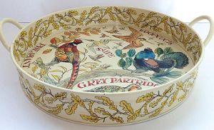 Large Tray Game Birds - Nieuw! - Pine-apple - Importeur Emma Bridgewat