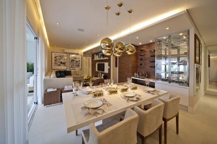 Sala De Jantar Iluminacao ~ Fernanda Marques  Projetos  Empreendimentos Gafisa Coloratto  Home