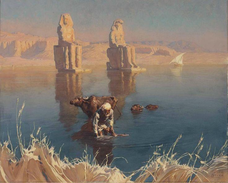 Buffalo Watering by Adam Styka