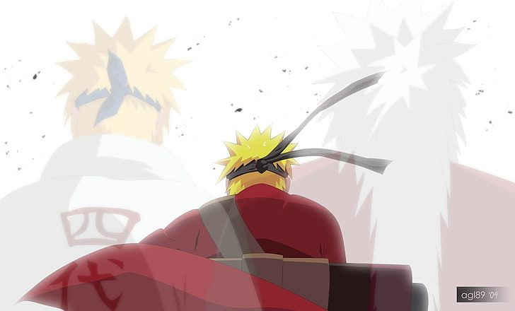 Sage Mode Naruto Mianto And Jiraiya Digital Wallpaper Uzumaki Naruto Hd Wallpaper Di 2020