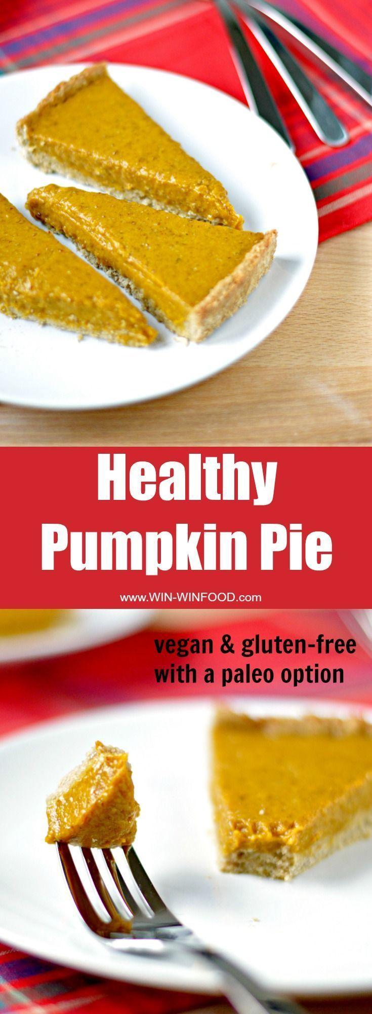Healthy Pumpkin Pie #vegan #glutenfree #healthy #minimaleats   Minimalist GiGi Eats // GiGi