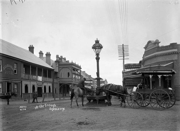"""""""At the Trough, Singleton"""" Australia 1900"""