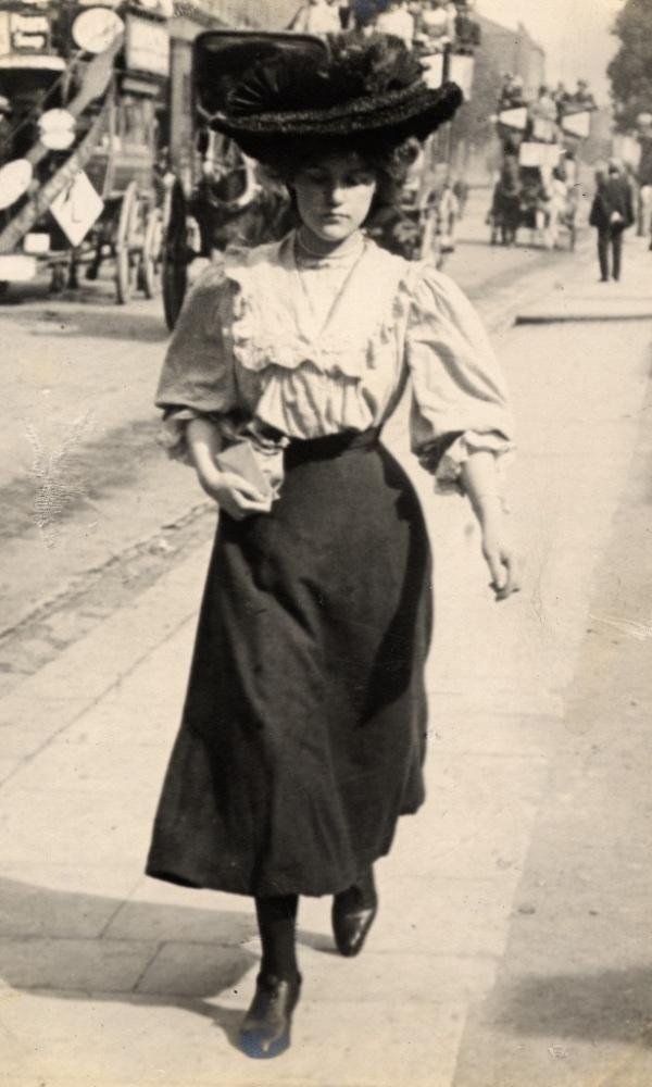La moda callejera de Londres en 1900
