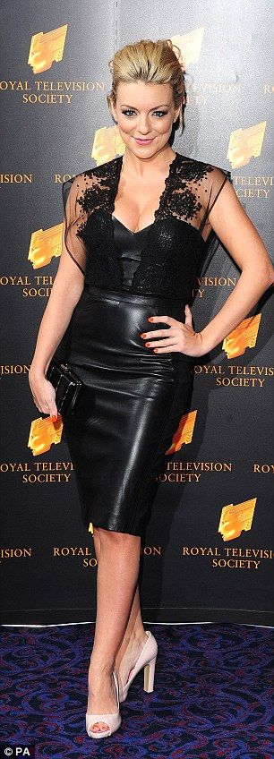 Sheridan Smith wears tight leather minidress as she leaves RTS Awards with actor Paul Keating | Daily Mail Online