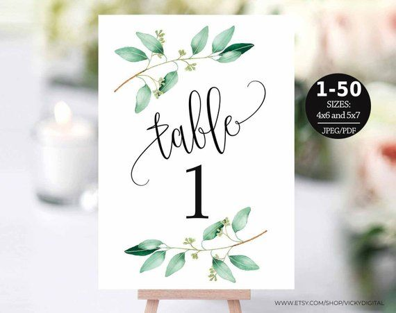 Table Number Template Table Numbers Printable Table Numbers Etsy Table Numbers Wedding Diy Printable Table Numbers Wedding Table Numbers