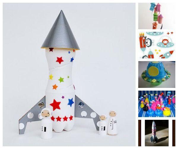 ¿Tenéis amantes del espacio en casa? Seguro que quedarán encantados con estas manualidades infantiles para astronautas. Se trata de ideas creativas para crear manualidades para niños de cohetes, naves