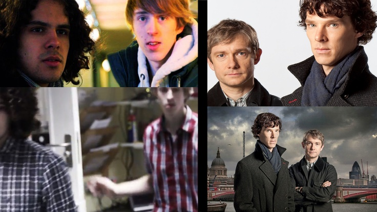 While the teens Ben and Louis compare well to BBC's Sherlock (both Gaia's Army and Sherlock on TV - Gaia's Army's TV movie format and the 90 minute Sherlock episodes make them match technically) the characters may have similarities in that there is a pair, one more confident and outgoing than the other - the confident ones also having frizzy hair - but they have their differences as well. Sherlock's intellect is superior whereas the responsibility the teenagers hold outweigh's Sherlocks.
