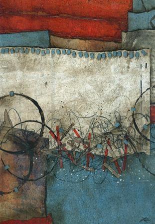 Collage art of Laura Lein-Svencner: TACK DOWN TUESDAYS
