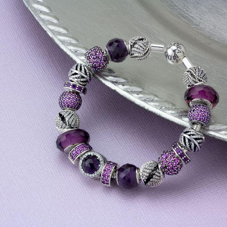 Purple Pandora bracelet idea                                                                                                                                                                                 More