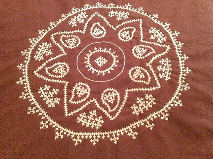 SRILU ARTS: Kutch work hand embroidary on bedsheet