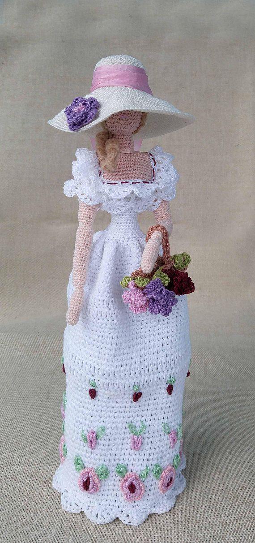 Cloth doll Crocheted Rag doll Amigurumi Spring Lady Art