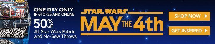 Feiern Sie den 4. Mai mit 50% aller Star Wars-Stoffe und … #aller #fabriccraf …   – Stoffkunst