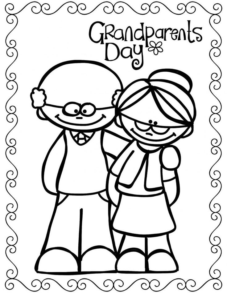 Grandparents Day Printable Coloring Pages Coloring Book ...