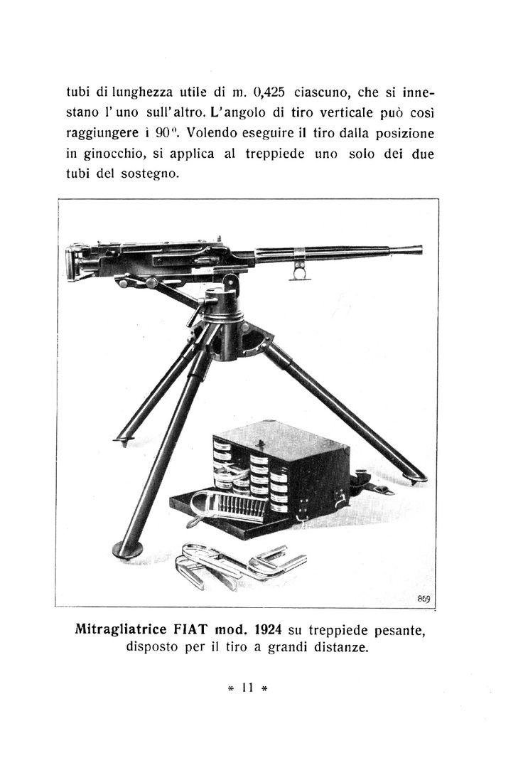 Italian FIAT Model 1924 machine gun on tripod.