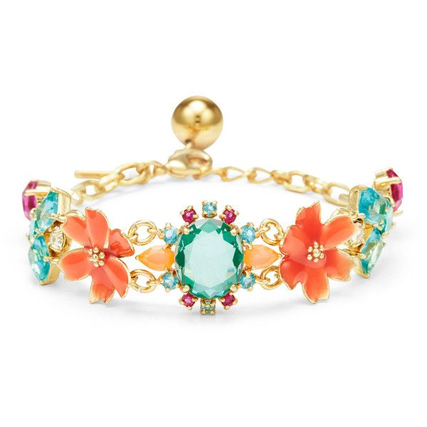 kate spade new york accessories Garden Party Statement Bracelet (1,290 INR) ❤ liked on Polyvore featuring jewelry, bracelets, kate spade bangle, statement bangles, kate spade, statement bracelet and kate spade jewelry