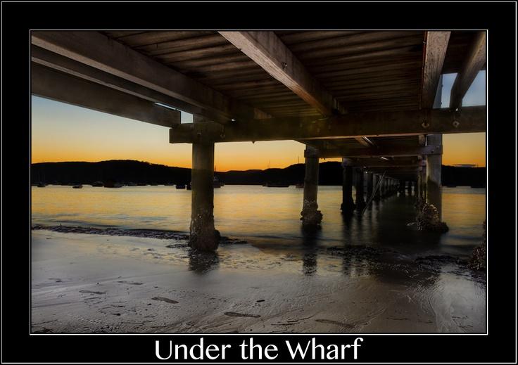 Under the Palm Beach Wharf