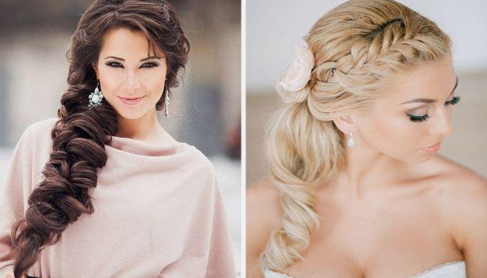 Свадебные косы и плетения