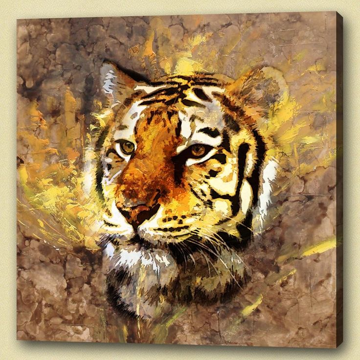 Meer dan 1000 idee n over tijger schilderij op pinterest chinees schilderij tekening van de - Moderne schilderij volwassen kamer ...
