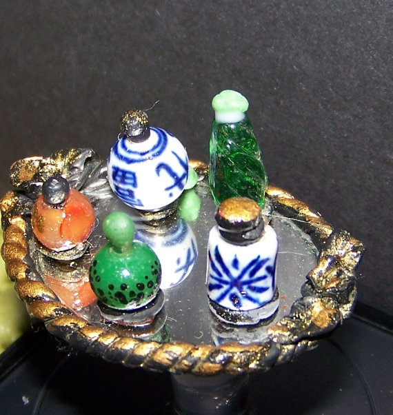 perfume tray for dresser by picalina on Etsy, $25.00