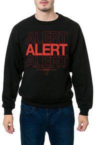 One Degree The Alert Crewneck Sweatshirt in Black