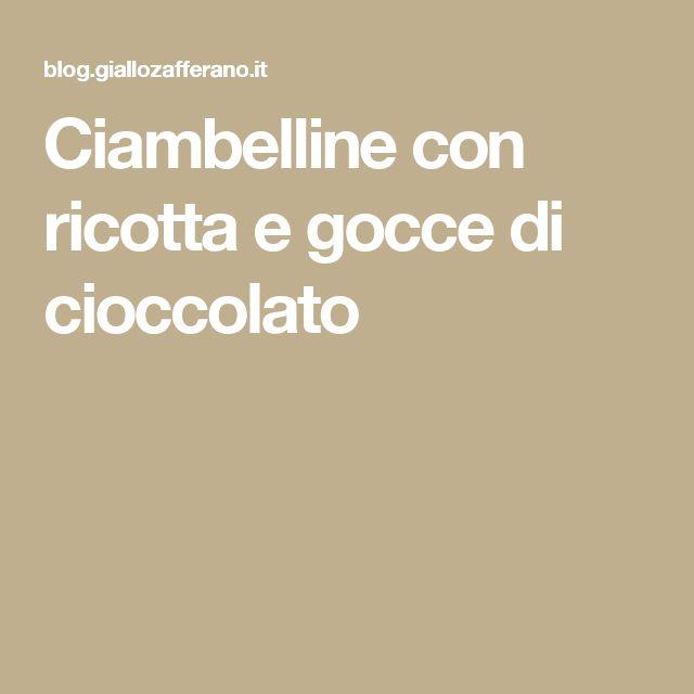 Ciambelline con ricotta e gocce di cioccolato