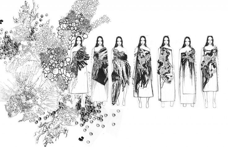 Fashion Sketchbook - fashion illustrations; dress sketches; fashion portfolio // Yunan Wang