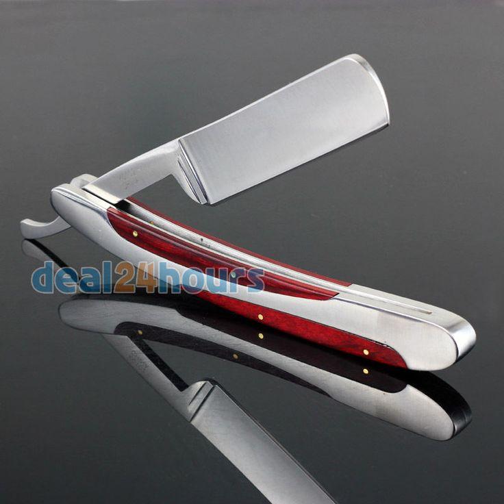 New Straight Edge Stainless Steel Hair Shaper Barber Razor Folding Shaving Knife