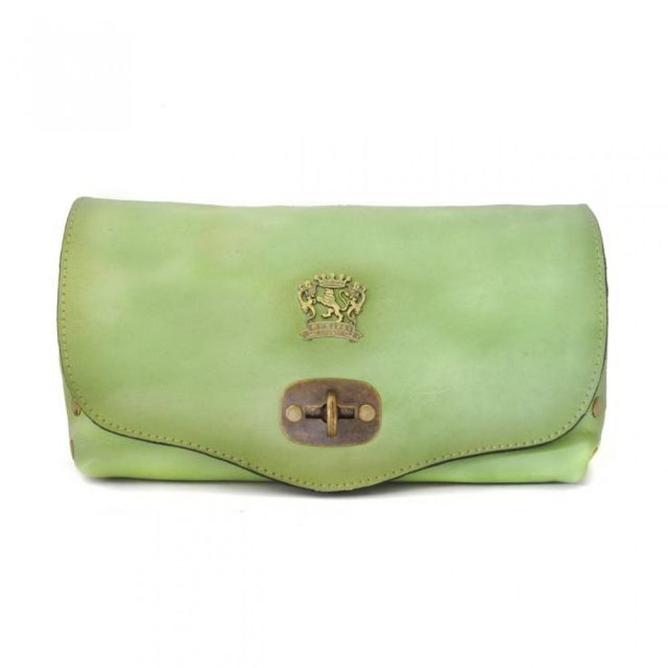 light green Pratesi Castel del Piano women's leather shoulder bag Handmade in Italy
