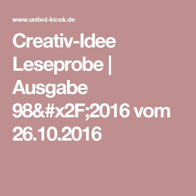 Creativ-Idee Leseprobe | Ausgabe 98/2016 vom 26.10.2016