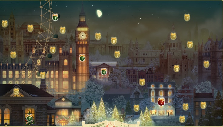 www.jacquielawson.com/ advent calendar. Amazing use of Adobe Air technology. It actually links to your computer clock, changes from night to day and shows the phases of the moon correctly in your time zone. Its incredible. For a simpler version, take a look at her e-cards. Animation can be a distinctive way to do an invitation, thank you or kick off a campaign.