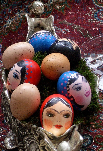 Eggs decorated for Norouz (Persian New Year).