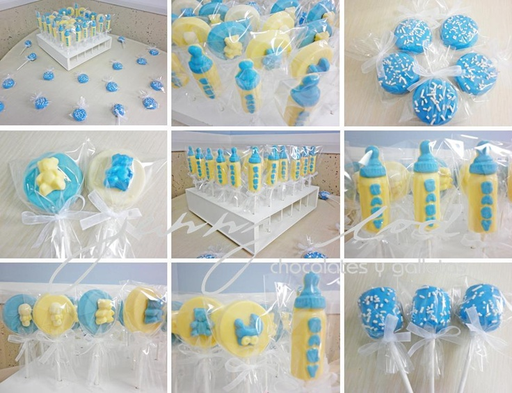 Baby Bottle Chocolate Pops Round Chocolate Pops With Baby