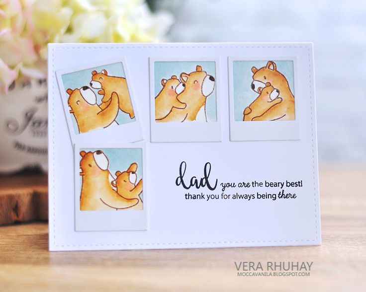 Hello everyone! Today, I have Card for Dad to share with you all.   Using Mama Elephant Bear series : Bear Hugs  and  Cub Cuddles  also Ca...