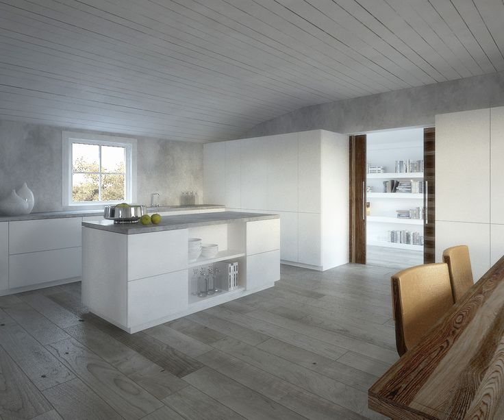 JOARC I ARCHITECTS • Interiors • concrete walls, mökki, summerhouse